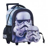 Sac à roulettes trolley maternelle Star Wars Trooper 31 CM + Masque