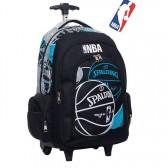 Cartable à roulettes NBA Basket bleu 45 CM Haut de gamme