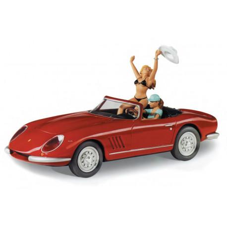 Le cabriolet Ferrari Milo Manara Rouge