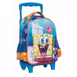 Mochila con ruedas materna Bob Esponja 31 CM - Trolley escolar