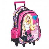 Mochila patineta Barbie princesa poder 43 CM carretilla