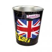 Corbeille métal LONDON Studio Rock noire