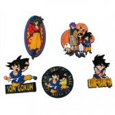 Collection de 5 magnets Dragon Ball Z
