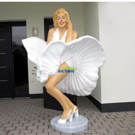 Statuette Marilyn Monroe Robe blanche 1M70