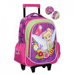 Rolling Backpack Tinkerbell Pink 43 CM - Premium Trolley