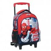 Sac à roulettes trolley maternelle Spiderman Comics 30 CM - Cartable