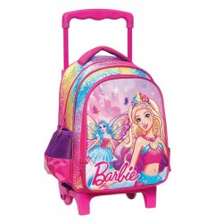 Rolling trolley Barbie fairy 31 CM - satchel bag