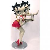 Estatuilla de Betty Boop camarera vestido rosa 96 CM