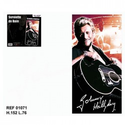 Johnny Hallyday guitar bath sheet