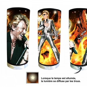Lampe johnny hallyday costume for Miroir johnny hallyday