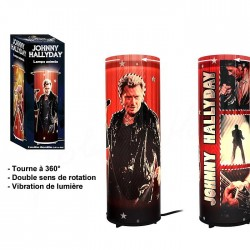 Lampe tournante Johnny Hallyday Costume Noir
