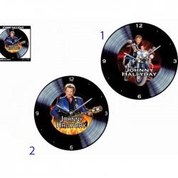 Pendule disque Johnny Hallyday