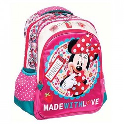 Backpack Minnie Mouse made with love 43 CM