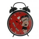 Grand réveil Betty Boop noir Coeur
