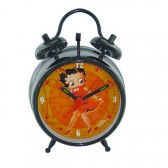 Grand réveil Betty Boop Noir et orange