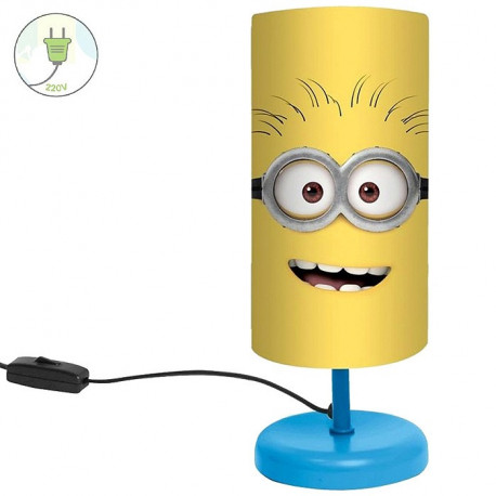 lampe de chevet minions jaune. Black Bedroom Furniture Sets. Home Design Ideas