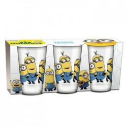 Lot of 3 glasses Minions
