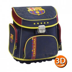 Cartable rigide FC Barcelone 38 CM Haut de Gamme - FCB 3D