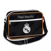 Cartera bolso Real Madrid negro brillante 35 CM