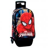 Mochila premium en monopatín Spiderman ojos 43 CM carretilla - Binder