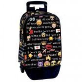 Sac à dos à roulettes Emoji Talk 42 CM trolley Haut de Gamme - Cartable