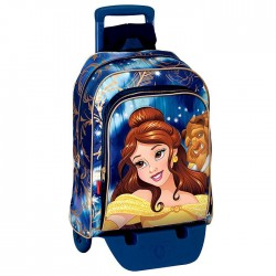 Sac à dos à roulettes Princesse Bella 43 CM trolley Haut de Gamme - Cartable La belle et la bête