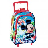 Sac à dos à roulettes maternelle Mickey Mouse 37 CM trolley - Cartable