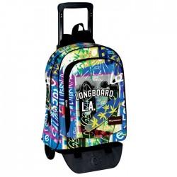 Rolling Backpack Longboard Los Angeles 43 CM - Trolley