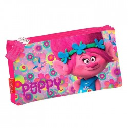 Trousse Trolls Poppy Happy - 3 compartiments