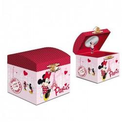 Boite à bijoux musicale Minnie et Mickey à Paris
