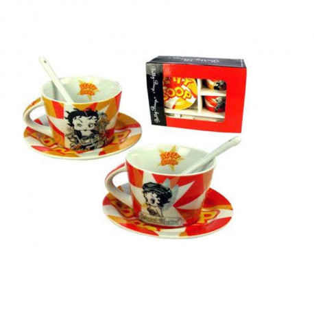 Service à café Betty Boop - 2 tasses