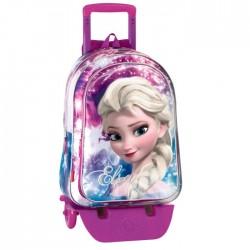 Sac à dos à roulettes Frozen La reine des neiges 43 CM Shinning trolley Haut de Gamme - Cartable