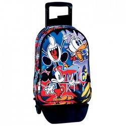 Rolling Backpack Mickey Madness 42 CM - Premium Trolley