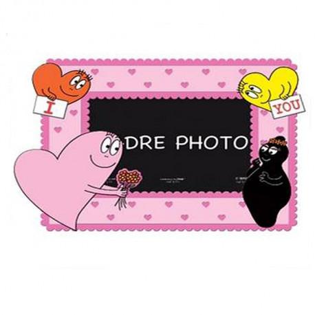 cadre photo i love you barbapapa la boutique des toons. Black Bedroom Furniture Sets. Home Design Ideas