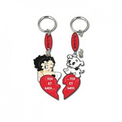 Betty Boop you & me heart key ring