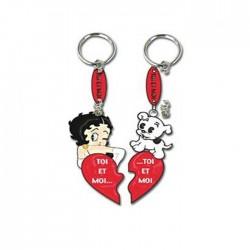 Porte clés Betty Boop Toi & Moi Coeur