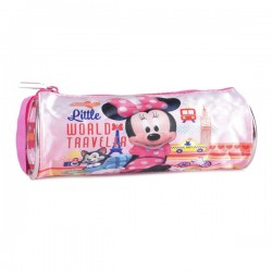 Trousse ronde Minnie rose 21 CM Traveler