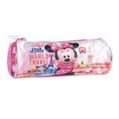 Trousse ronde Minnie rose 21 CM Traveler