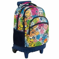 Rollen Schulranzen Smiley 45 CM - 3 cpt - Trolley