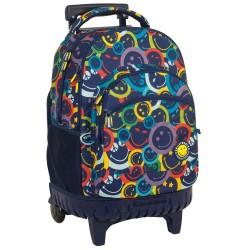 Mochila con ruedas Smiley Color 45 CM - Trolley escolar