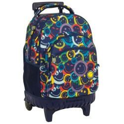 Rolling Backpack Smiley Color 45 CM - 2 cpt - Trolley