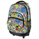 Rolling tas 45 CM Smiley kleur high-end - 2 cpt - Binder
