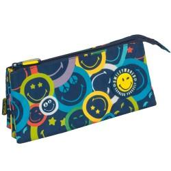 Trousse Smiley Color 23 CM - 3 compartiments