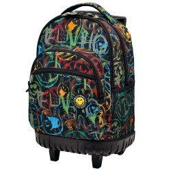 Rolling Backpack Smiley Street 45 CM - 2 cpt - Trolley