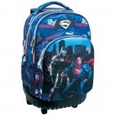 Sac à roulettes 45 CM Batman Vs Superman Heroes Haut de gamme - 2 cpt - Cartable