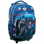 Sac à roulettes 45 CM Batman Vs Superman Heroes Haut de gamme - 2 cpt - Cartable