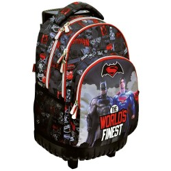 Sac à roulettes 45 CM Batman Vs Superman World Haut de gamme - 2 cpt - Cartable