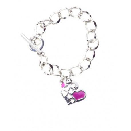 Playboy Bunny and heart pattern bracelet