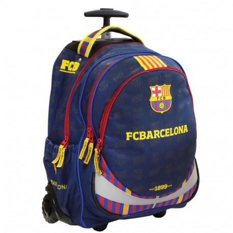 Sac à roulettes 47 CM FC Barcelone Basic Haut de gamme - 2 cpt - Cartable FCB