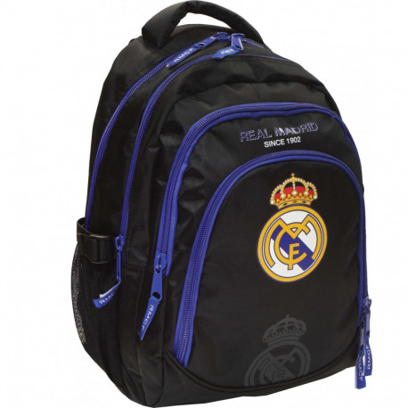 Sac à dos Real Madrid Black Basic 45 CM Haut de Gamme - 3 Cpt